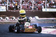 Senna began racing go-karts in Brazil at the age of 13.