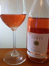 A rosé wine from Bandol, in Provence. Traditional rosé wines get their pink color when they are fermented a short time with dark purple grapeskins.