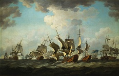 Battle of Quiberon Bay off Brittany