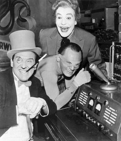 "Frequent ""special guest villains"" (clockwise from left) Burgess Meredith as the Penguin, Cesar Romero as the Joker, and Frank Gorshin as the Riddler"