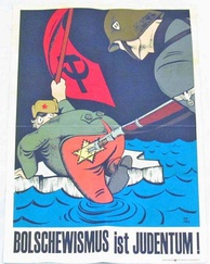 Anti-communist, antisemitic propaganda poster in Nazi Germany