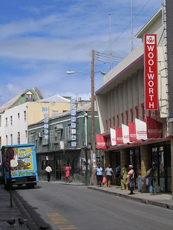 The independent Woolworth store on Prince William Henry Street, Bridgetown