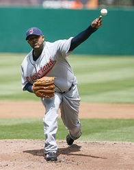 CC Sabathia – who won the 2007 A.L. Cy Young Award with the Indians, and was the first of back-to-back Indians Cy Young winners (with teammate Cliff Lee winning the following year).