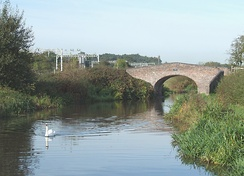 The Staffordshire and Worcestershire Canal approaching Walton Bridge, No 104.