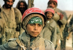 95,000 Iranian child soldiers were made casualties during the Iran–Iraq War, mostly between the ages of 16 and 17, but a few even younger than that.[104][105]