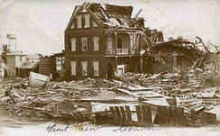 Destruction from the 1931 Belize hurricane