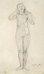 Figure drawing by Lovis Corinth (before 1925)