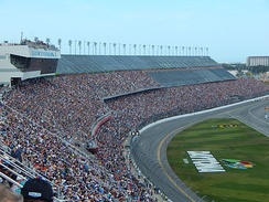 Daytona International Speedway, the track where the race was held.