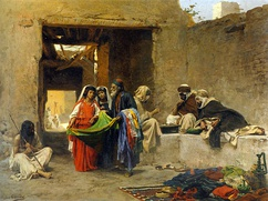 Au Souk [At the Souk], by Eugène Alexis Girardet, late 19th century