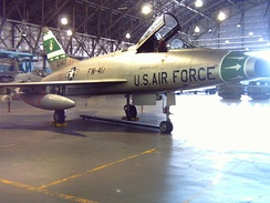 F-100D-85-NA, AF Ser. No. 56-3417, at Wings Over the Rockies Air and Space Museum (former Lowry AFB), Denver, Colorado, painted in its original 356th TFS, 354th TFW colors