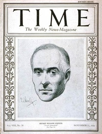 Henry Sloane Coffin on the cover of Time magazine November 15, 1926