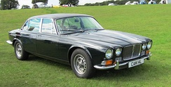 The Jaguar XJ12, launched during the summer of 1972, featured a simplified grille
