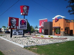 Another cobranded KFC and Taco Bell in Oscoda, Michigan