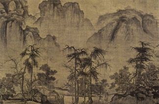 Kuo Hsi, Clearing Autumn Skies over Mountains and Valleys, Northern Song Dynasty c. 1070, detail from a horizontal scroll.[34]