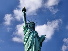 The Statue of Liberty in New York City is a symbol of both the U.S. and the ideals of freedom, democracy, and opportunity.[315]