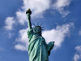 The Statue of Liberty in New York City is a symbol of both the U.S. and the ideals of freedom, democracy, and opportunity.[311]