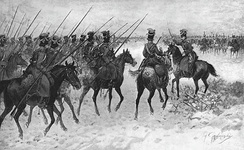 As irregular cavalry, the Cossack horsemen of the Russian steppes were best suited to reconnaissance, scouting and harassing the enemy's flanks and supply lines.