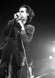 Nick Cave performing in 1986