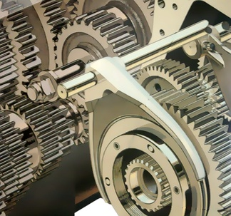 Illustration of gears of an automotive transmission