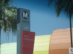 North Hollywood is the northern terminus of the Red Line in the San Fernando Valley