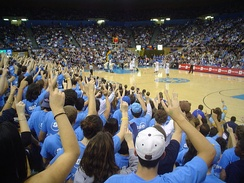 Men's Basketball game at Pauley Pavilion on 01/08/2005 when UCLA came from 22 down to upset Washington.