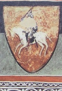 One of the oldest colorful Vytis (Pahonia) depiction, 14th century