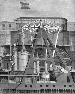 Even by 1891 Puritan's was the largest vertical beam (i.e. walking beam) engine ever constructed.