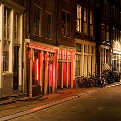 The red-light district is a main tourist attraction.