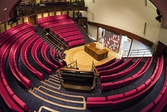 The Royal Institution Lecture Theatre. Here Michael Faraday first demonstrated electromagnetism