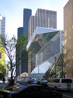 Seattle Central Library Seattle, USA, designed by OMA