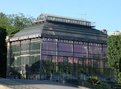 Hothouse, Jardin des Plantes built 1834–36 by Charles Rohault de Fleury. Example of French glass and metal architecture