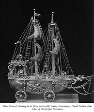 Silver Caravel. Ashes of Christopher Columbus[94]