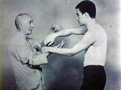 Bruce Lee and his teacher Ip Man.