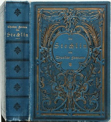 A typical hardcover book (1899), showing the wear signs of a cloth cover over the hard paperboards