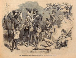 """The Secessionist Army-Irregular Riflemen of the Alleghanies, Virginia"", Harper's Weekly, July 20, 1861"
