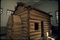 Log cabin at Abraham Lincoln Birthplace