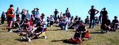 Billy carts constructed by Cub Scouts and their fathers and carers at The Rooty Hill, NSW Australia