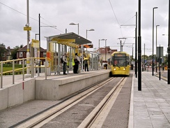 Audenshaw tram stop on the East Manchester Line.