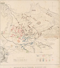 Battle of the Chernaya, the forces at the beginning of the battle and the Russian advance