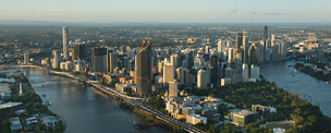 Aerial view of Brisbane CBD