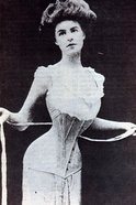 Tightening a corset applies biaxial compression to the waist.
