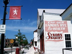 Czech Village is at the heart of the city's Czech heritage. Pictured is Sykora Bakery which is now open to the public.