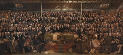 The Disruption Assembly of 1843, painted by David Octavius Hill