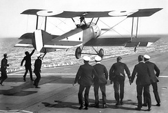 Landing on HMS Furious in a Sopwith Pup scout