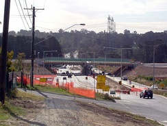 Construction of EastLink over Boronia Road in Wantirna