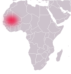 Location of the Ghana Empire