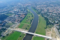 The Waldschlösschen Bridge is a subject of controversy in Dresden and other parts of Germany