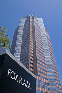 The Fox Plaza in Century City, headquarters for 20th Century Fox