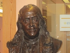 Franklin bust in the Archives Department of Columbia University in New York City