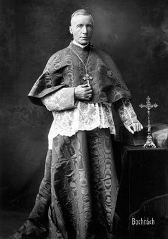 James Gibbons (1834–1921), cardinal archbishop of Baltimore, was the widely respected leader of American Catholics